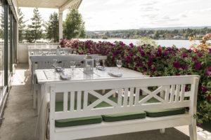 Servering på Tyrifjord hotel